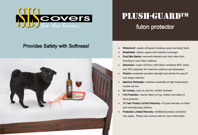 Plush Guard Waterproof Futon Protector Brochure