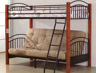 twin full futon bunk bed set